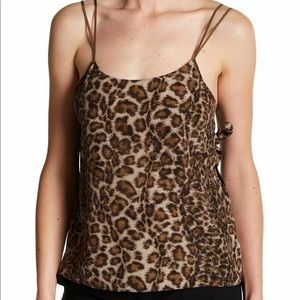 Helmut Lang animal print top NWOT XS